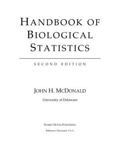 Handbook of Biological Statistics