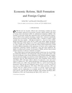 Economic Reform  Skill Formation and Foreign Capital!11
