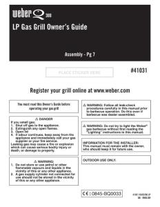 LP Gas Grill Owner´s Guide - Weber Grills