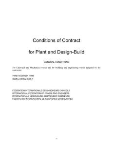 FIDIC黄皮书官方版 Conditions of Contract for Plant and Design-Build