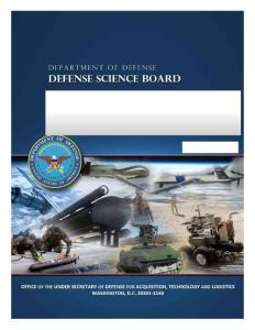 The Role of Autonomy in DoD Systems - Federation of American