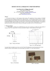 DESIGN OF DUAL FREQUENCY PRINTED DIPOLE