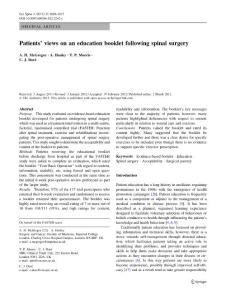 Patients´ views on..