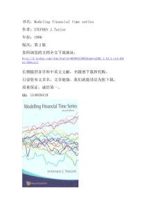 Modeling financial time ..