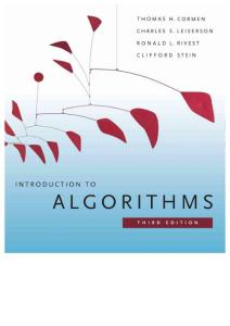 Introduction to Algorithms - Thomas H. Cormen & Charles E. Leiserson & Ronald L. Rivest & Clifford Stein