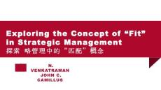 "Exploring the Concept of ""Fit"" in Strategic Management"